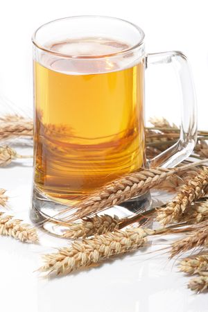 Glass of beer with grain Stock Photo - 5692151