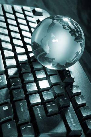 Globe and keyboard Stock Photo - 5692115
