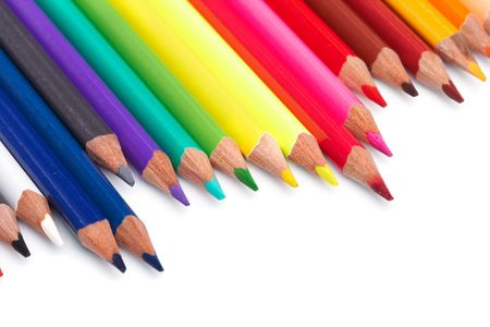 Color pencils  on white background Stock Photo - 5692070