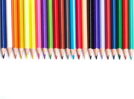 Color pencils  on white background Stock Photo - 5692080