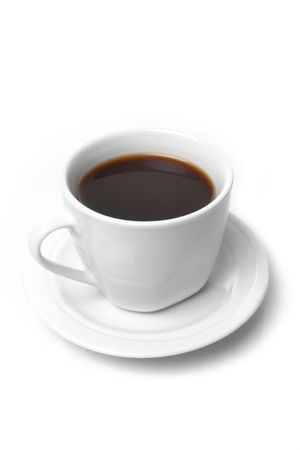 Perfect white coffee cup   on white Stock Photo - 6069931
