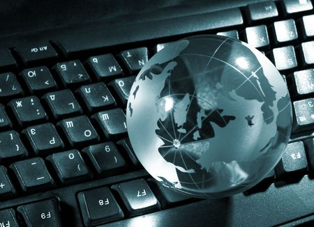 Globe and keyboard photo