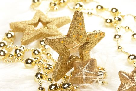 colorful beads:  Christmas stars