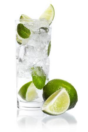 Mint, lime ice vodka photo