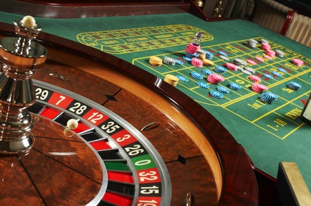 roulette: Roulette del casin? Archivio Fotografico