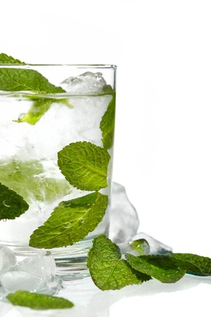 Mint ice vodka photo