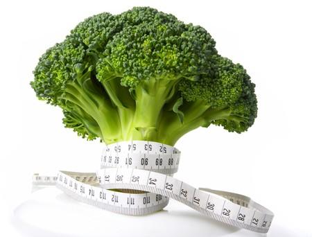 healthful: medidor de dieta de br�coli  Foto de archivo