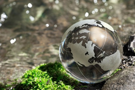 Water  stream, globe, ecology Stock Photo - 7035056