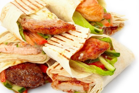 tortilla with vegetables Stock Photo - 7064203