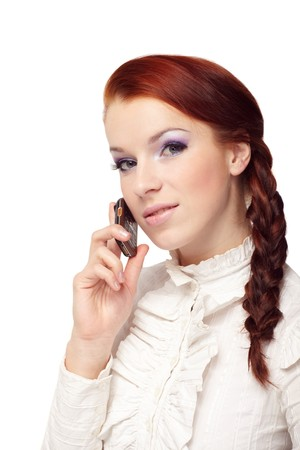 Beautiful woman with mobile phone Stock Photo - 7063779