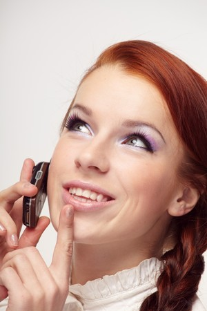 Beautiful woman with mobile phone Stock Photo - 7064189