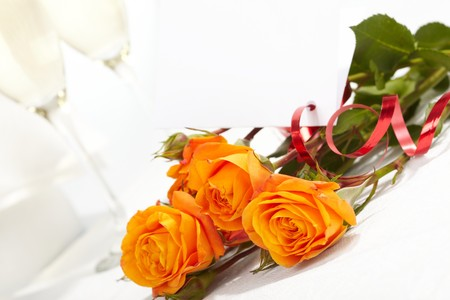 Roses and glasses of champagne Stock Photo - 7063673