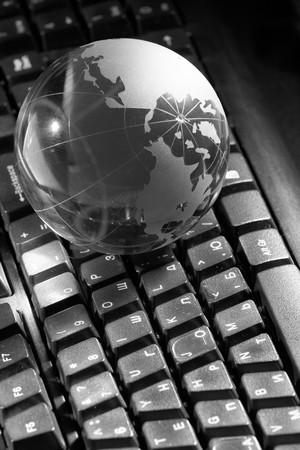 globetrotter: Globe and keyboard