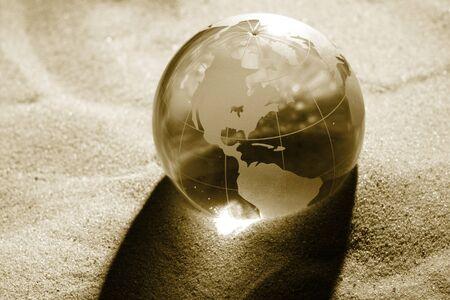 responsibilities: globe, environmental responsibility Stock Photo