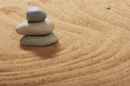 Garden of stones, zen-like, tranquil, spa images Stock Photo - 7987618