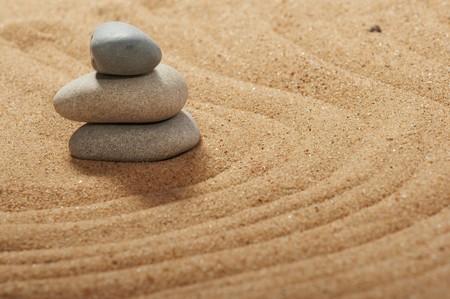 Jardin de pierres, spa zen-like, tranquille, images