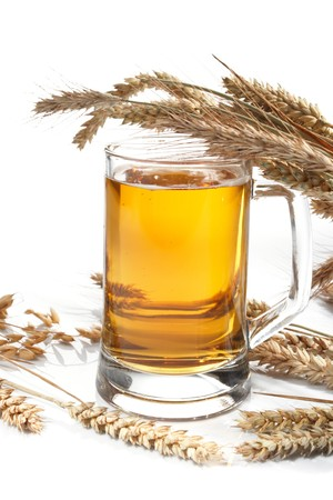 Glass of beer with grain Stock Photo - 8104792