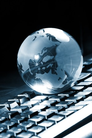 Globe and keyboard Stock Photo - 8105241