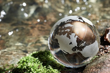 asia nature: Water  stream, globe, ecology