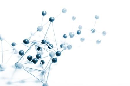 quimica organica:   Fondo molecular  Foto de archivo