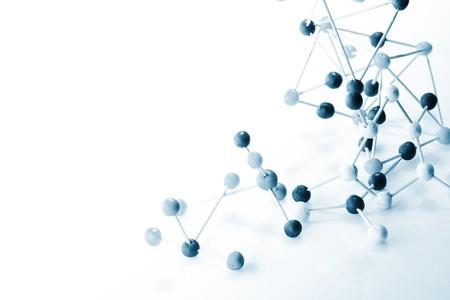 Moleculaire achtergrond Stockfoto