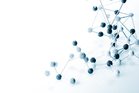 nautical structure:   Molecular background  Stock Photo