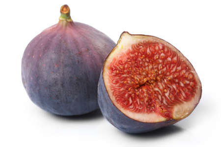 purgative: Fresh figs isolated on the white