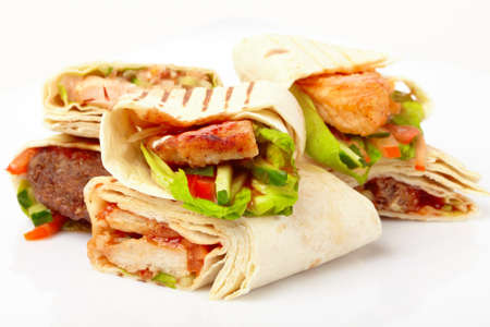 tortilla with vegetables photo