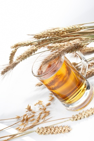 Glass of beer with grain Stock Photo - 8353595