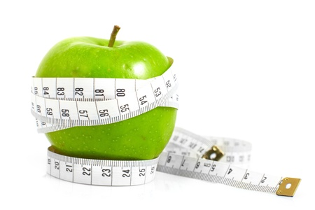 instrument of measurement: Green apples measured  the meter, sports apples