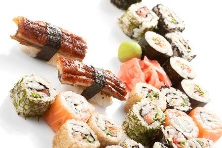 Different types of sushi  photo