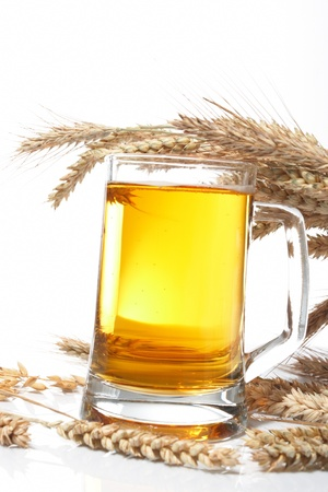Glass of beer with grain Stock Photo - 8353657