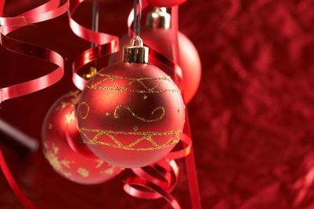 Red Christmas balls Stock Photo - 8353999