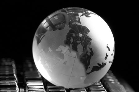 Globe and keyboard Stock Photo - 8421026