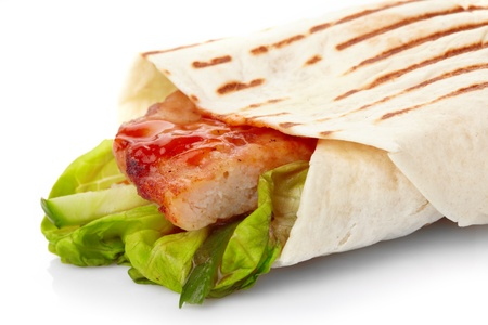 tortilla with meat and vegetables Stock Photo - 8491275