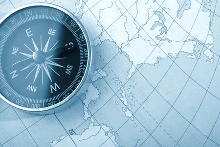 Map with a compass photo