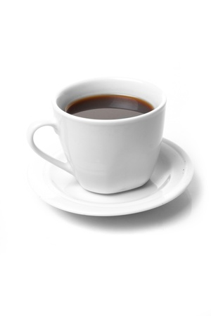 coffee filter: Perfect white coffee cup   on white Stock Photo