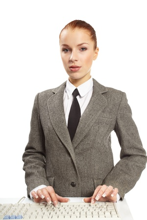 neckties:   portrait of young businesswoman Stock Photo