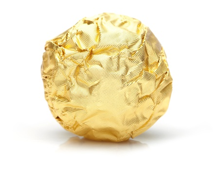 candy in golden foil  photo