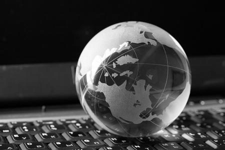 Globe and keyboard Stock Photo - 8938913