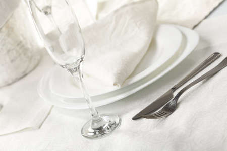 napkin: Banquet table