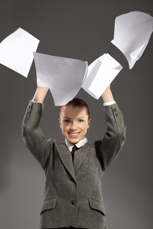 businesswoman with documents photo