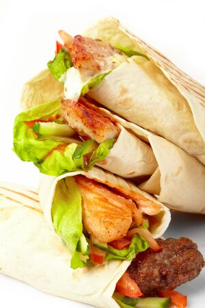 tortilla with vegetables Stock Photo - 9095483