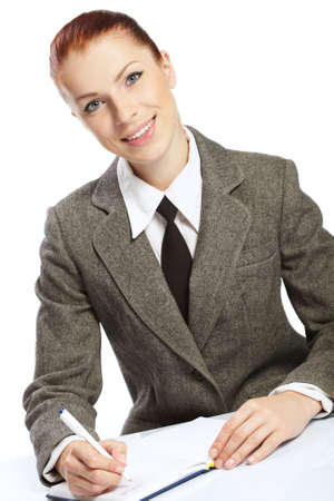 businesswoman wih personal organizer photo