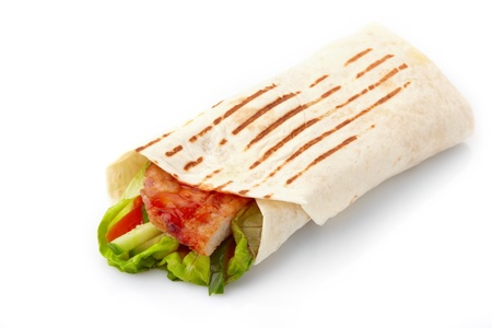 taco tortilla:  tortilla with meat and vegetables
