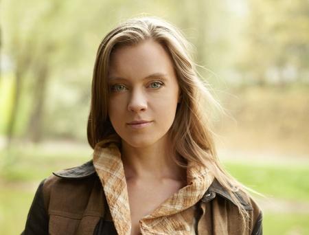 Portrait beautiful girl, outdoors Stock Photo - 9602195