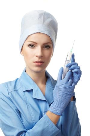 medical doctor with syringe photo