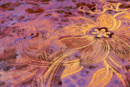 Structure of a fabric, silk, upholstery photo