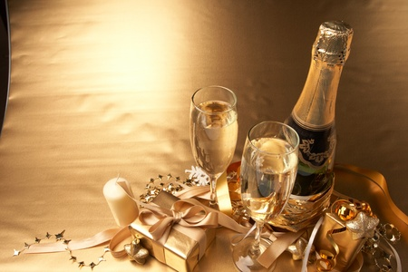 Champagne and gift photo