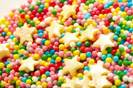 sweet sugar spreading pastry decoration photo